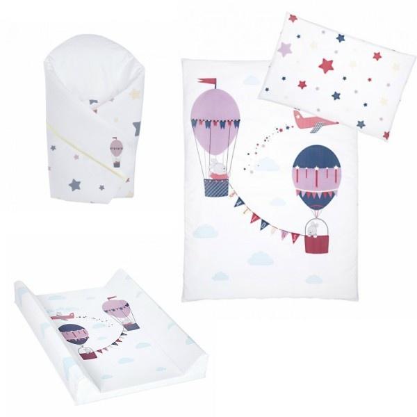 Klups Sengesett, Stellematte & Wrap - Baloons