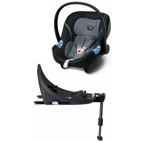 Cybex Aton M inkl Base - Pepper Black