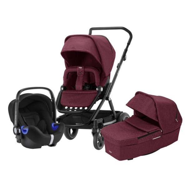 Britax Go Next² 3i1 - Wine Red Melange/Black