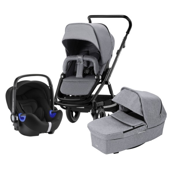 Britax Go Big² Travelsystem - Grey Melange/Black