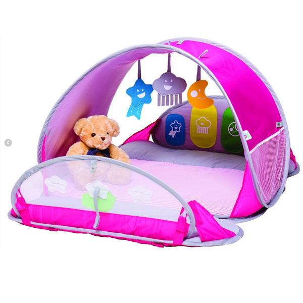 BBGG UV-telt med madrass - rosa