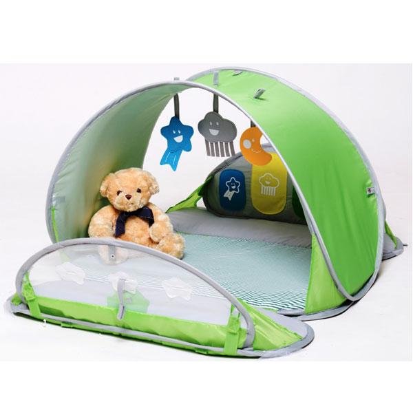 BBGG UV-telt med madrass - grønn