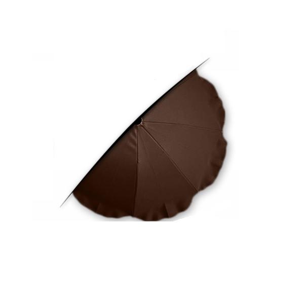 Parasoll for barnevogn brun